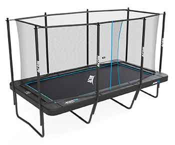 Acon Trampoline Air 16 Sport HD with Enclosure I Includes 10x17ft Rectangular Trampoline, Safety Net, Safety Pad and Ladder