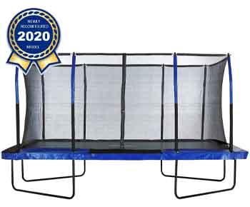 Upper-Bounce-Gymnastics-Style,-Rectangular-Trampoline-Set-with-Premium-Top-Ring-Enclosure-System