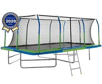 Upper-Bounce-Mega-Outdoor-Trampoline-with-Fiber-Flex-Enclosure-System,-10-X-17-,-Big-Trampoline