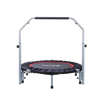 BCAN-40-inch-Foldable-Mini-Trampoline,-Fitness-Rebounder-with-Adjustable-Foam-Handle